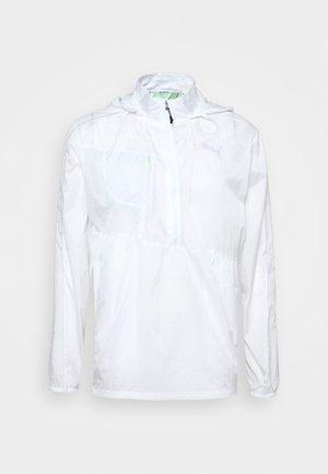 RUN LITE WOVEN JACKET - Löparjacka - white/elektro green