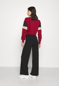 ONLY - ONYCOCO ROCKY WIDE PANT  - Trousers - black - 2