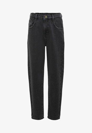 KONSAGA  - Jeans Straight Leg - black denim