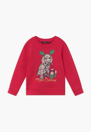 KIDS CHRISTMAS DOG  - Mikina - hochrot