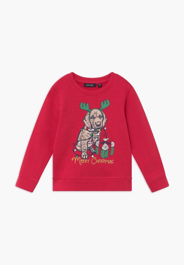 KIDS CHRISTMAS DOG  - Mikina - hochrot