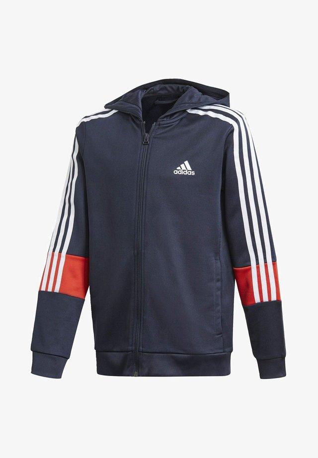 3-STRIPES AEROREADY PRIMEBLUE HOODIE - Zip-up hoodie - blue