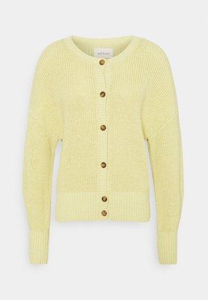PEYTON O-NECK - Cardigan - dusty yellow