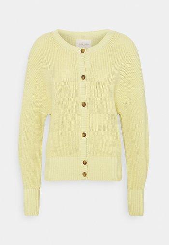 PEYTON O-NECK - Kardigan - dusty yellow
