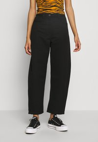 Weekday - ZOIE TROUSER - Spodnie materiałowe - black - 0