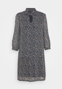 Marc O'Polo - DRESS SHORT FLUENT STYLE RUFFLED NECKLINE PRINTED - Day dress - multi - 5