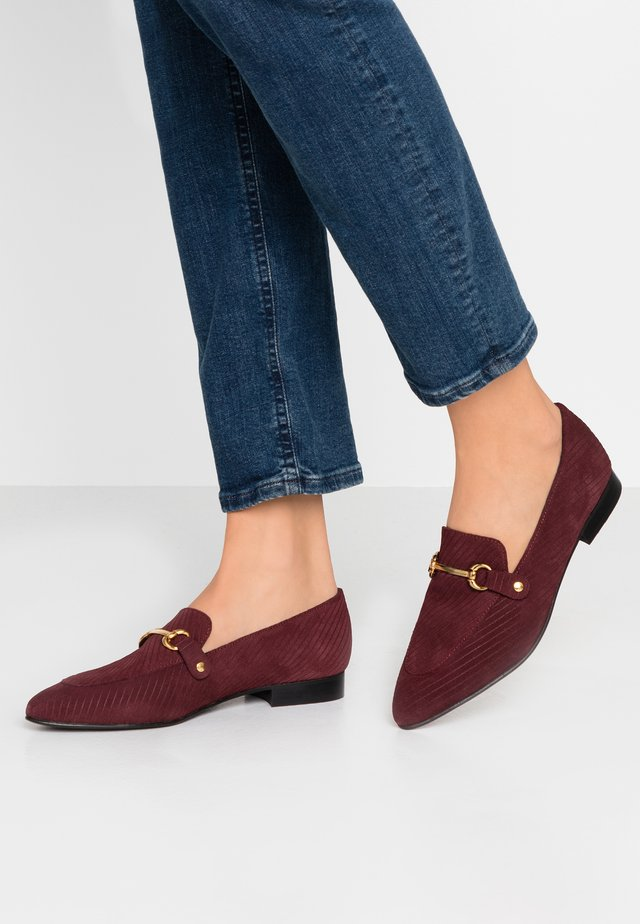WIDE FIT BIABRENDA LOAFER - Slip-ins - burgundy
