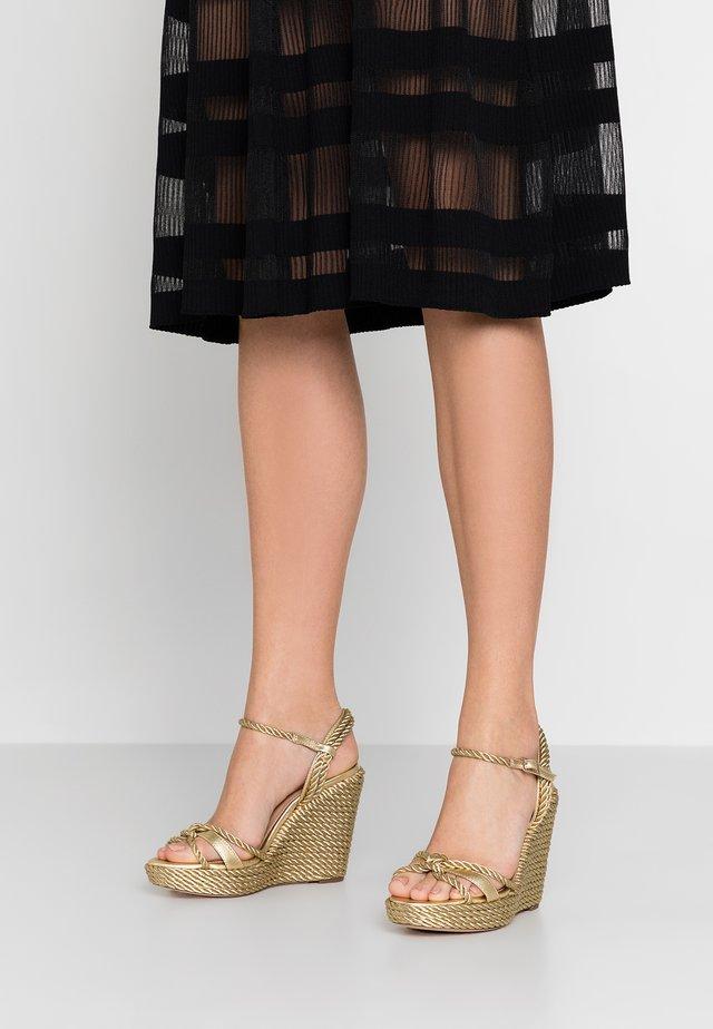 NEILE - High heeled sandals - gold