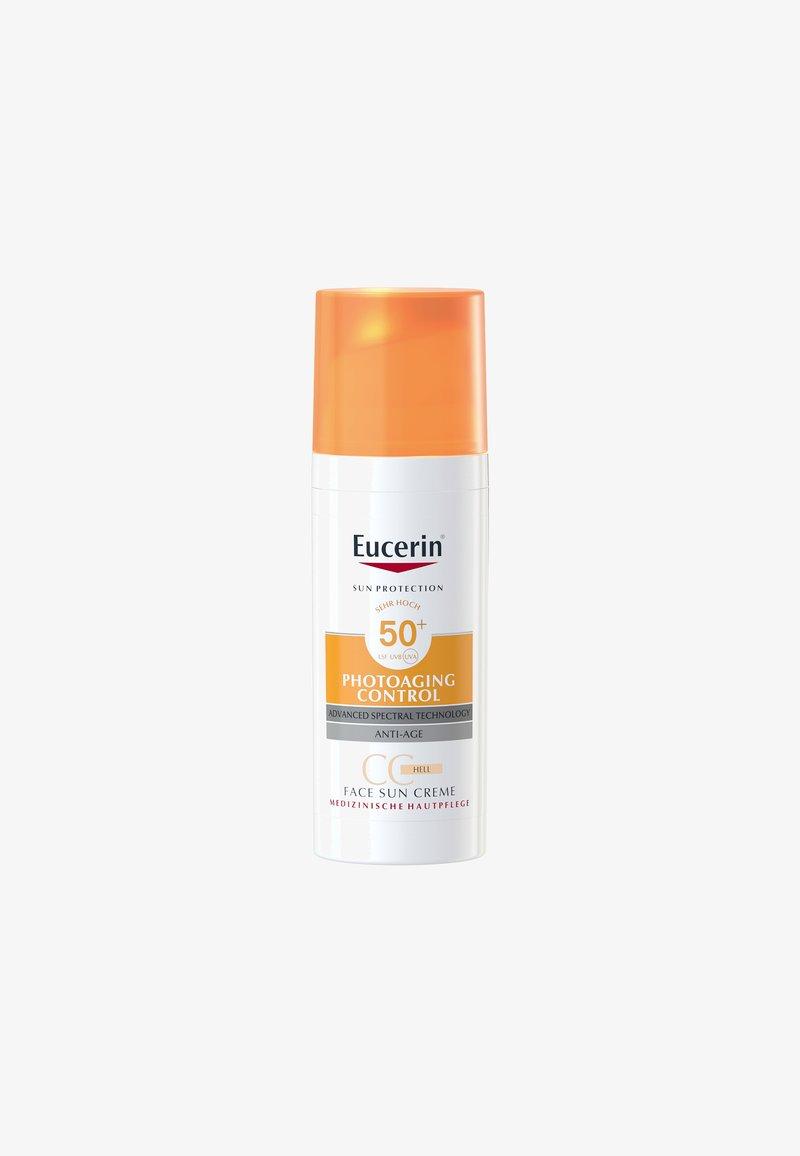 Eucerin - SUN PHOTOAGING CONTROL FACE CC CREME GETÖNT HELL LSF 50+ - Sun protection - -