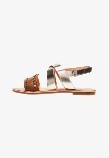 MANDY  - Sandals - tabaco