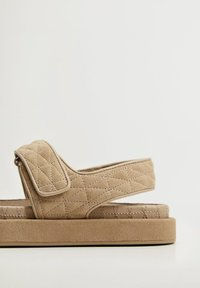 Mango - Sandals - halvbrun - 3