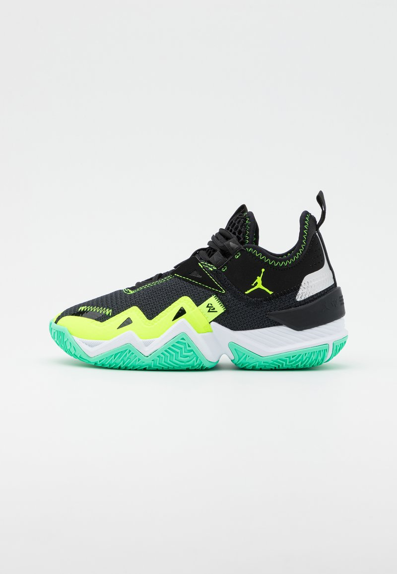 Jordan - WESTBROOK ONE TAKE UNISEX - Basketbalové boty - black/volt/white/green glow