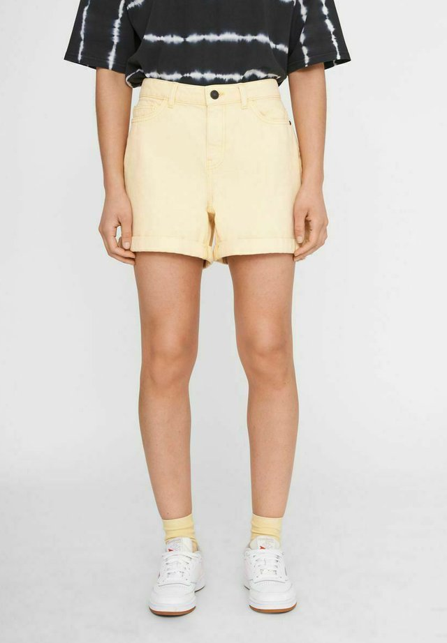 NMSMILEY - Shorts di jeans - light yellow