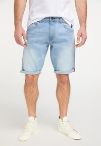 Petrol Industries - Denim shorts - bleached denim - 0
