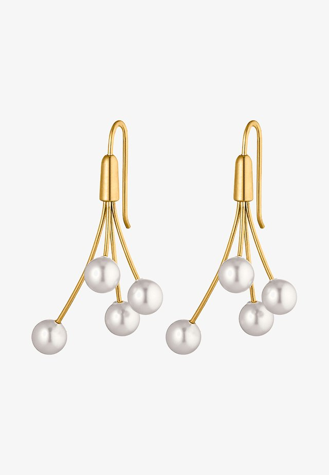 MIT PERLE - Earrings - white
