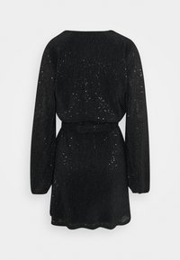 Nly by Nelly - WRAP SEQUIN DRESS - Cocktail dress / Party dress - black - 1