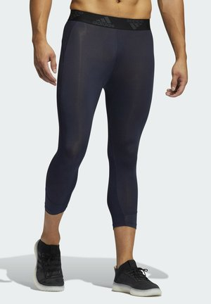 PRIMEGREEN TECHFIT WORKOUT COMPRESSION CAPRI 3/4 LEGGINGS - Tights - blue