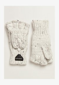 Superdry - GRACIE - Fingerless gloves - winter white tweed - 0