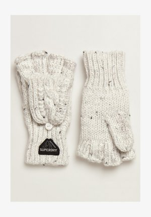 GRACIE - Fingerless gloves - winter white tweed