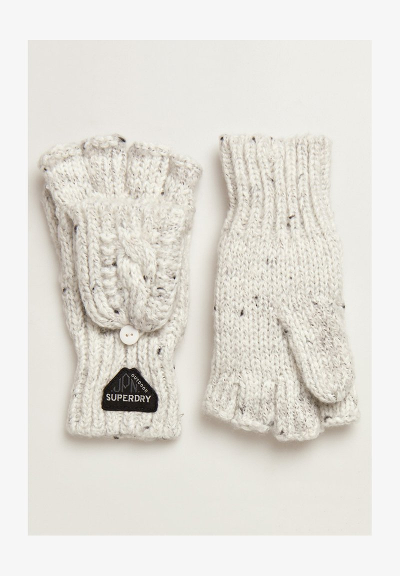 Superdry - GRACIE - Fingerless gloves - winter white tweed