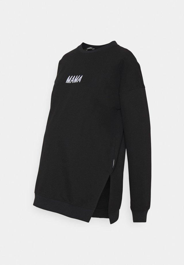 MATERNITY MAMA - Sweater - black