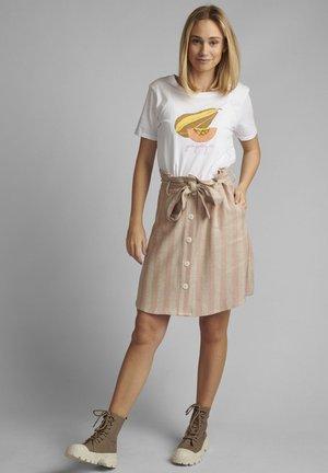 Print T-shirt - bright white