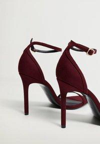 Mango - High heeled sandals - weinrot - 3