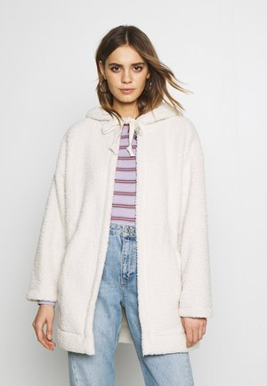 FUZZY HOODED COATIGAN - Light jacket - cream
