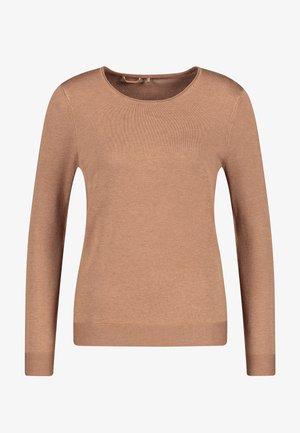 LANGARM RUNDHALS - Sweater - camel melange