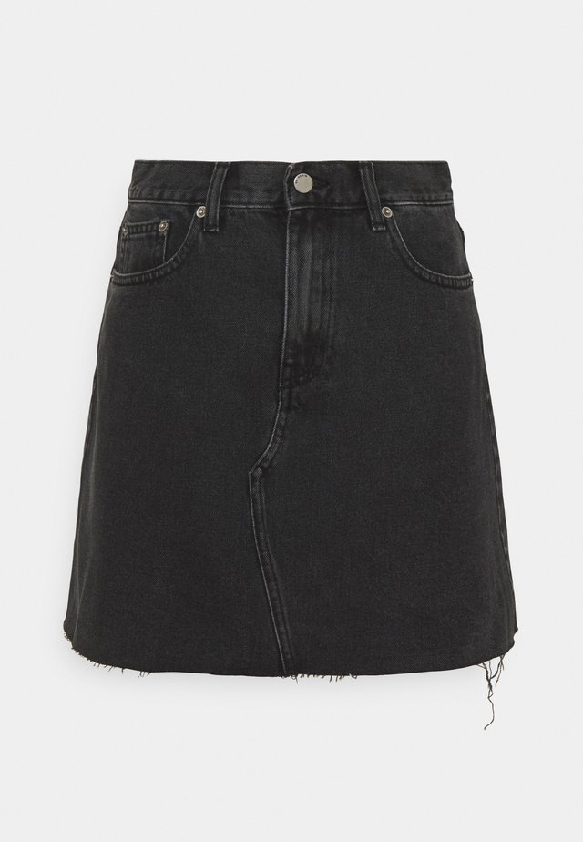 ECHO SKIRT - Minigonna - charcoal black