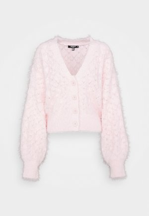 FEATHER POINTELLE CARDI - Kardigan - pink
