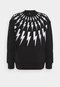Neil Barrett - FAIR ISLE THUNDERBOLT - Sweatshirt - black/white - 5