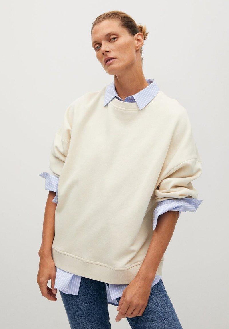 Mango - TARIFA - Sweatshirt - open beige