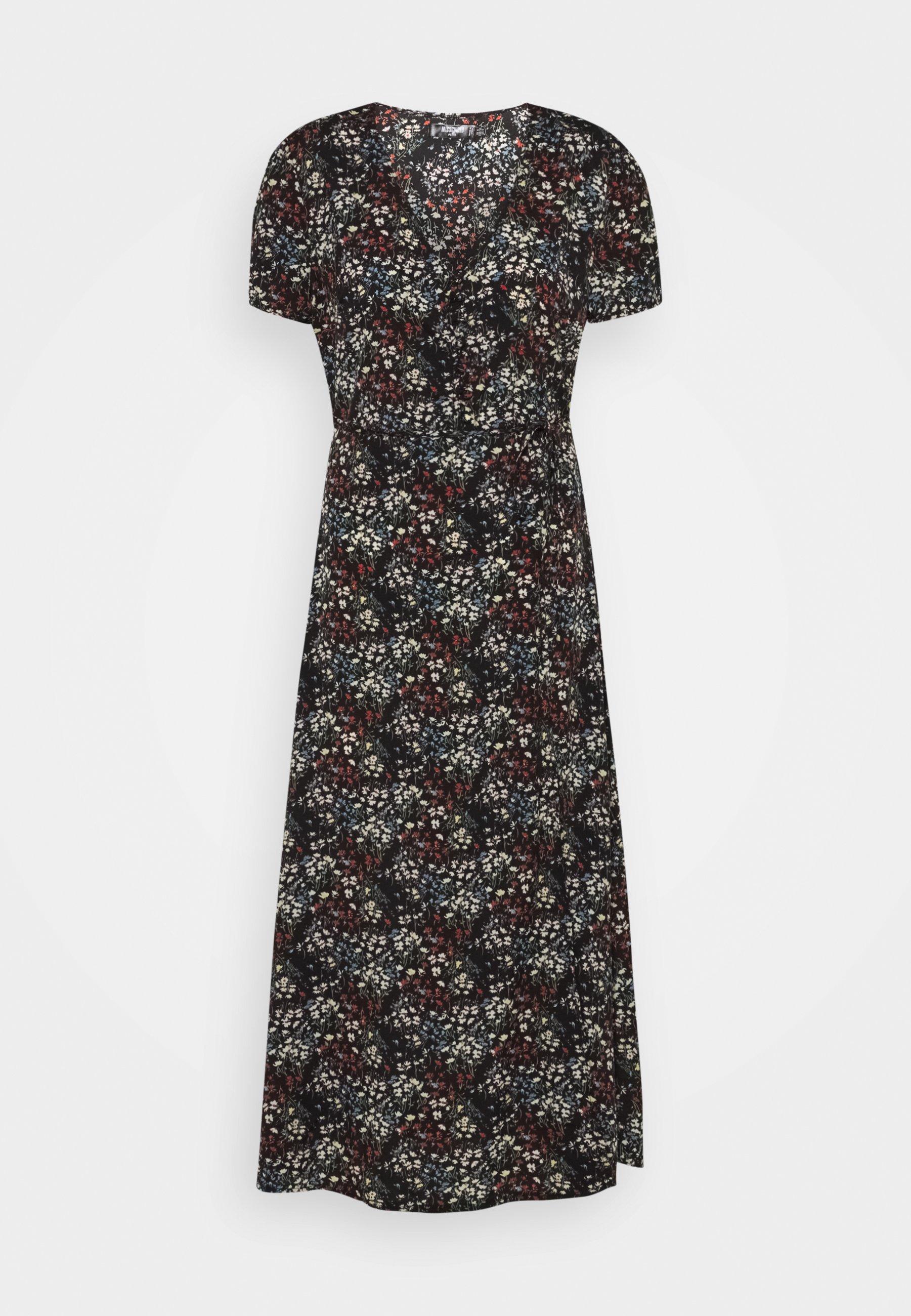 Women HALF BUTTON MIDI DRESS DITSY - Day dress