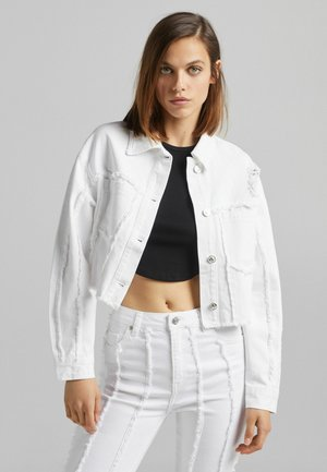 MIT FRANSEN - Denim jacket - white