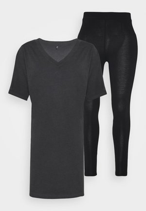 ONLLISE OVERSIZE WASHED SET - Pyjama set - black