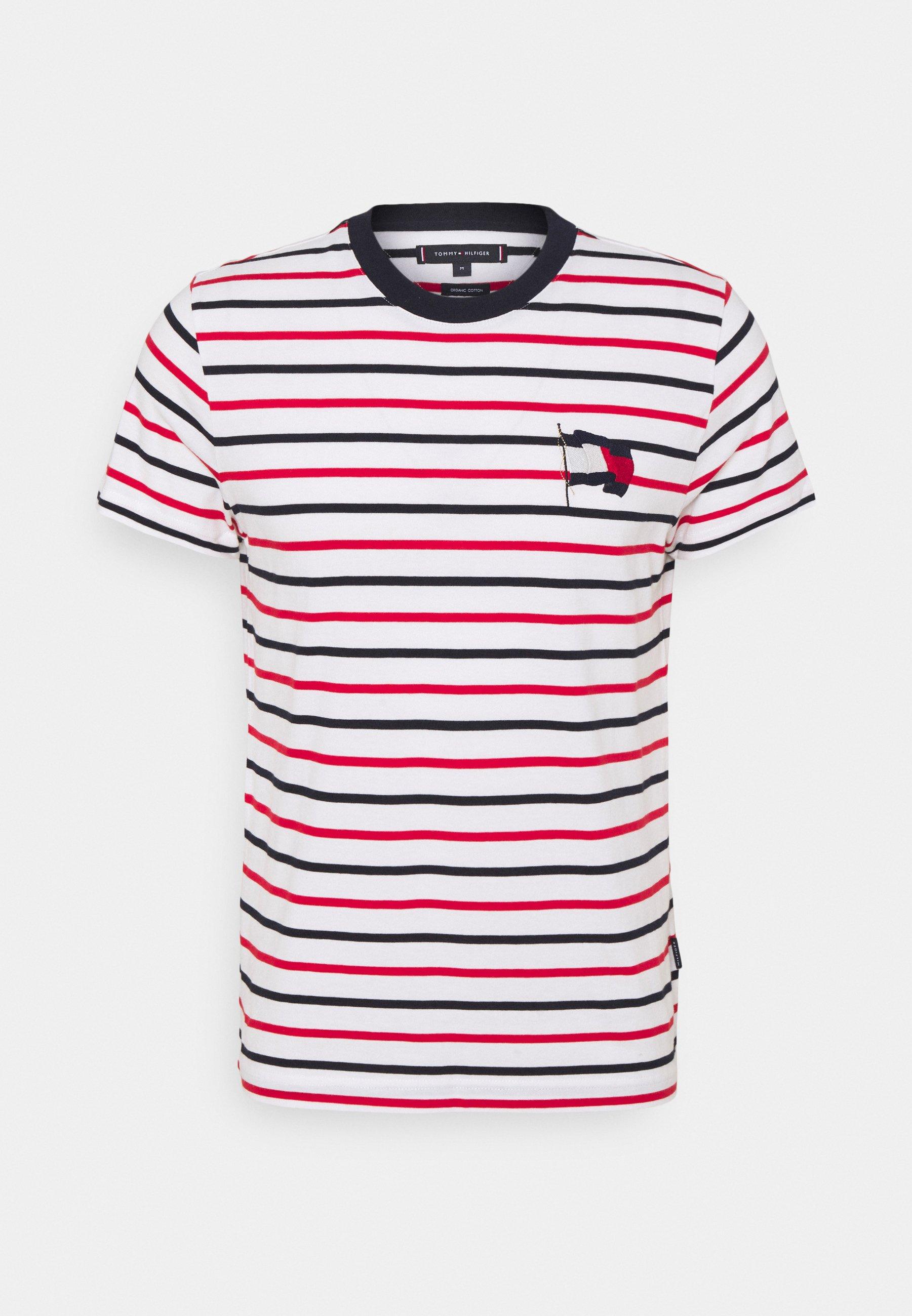 Men WAVY FLAG STRIPE TEE - Print T-shirt