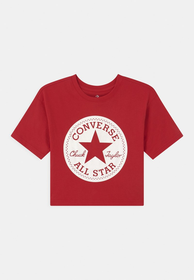 Converse - SIGNATURE CHUCK PATCH BOXY  - Camiseta estampada - enamel red
