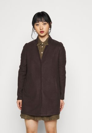 VMBRUSHEDKATRINE JACKET - Manteau court - chocolate plum
