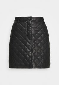 Miss Selfridge - QUILTED SKIRT - A-line skirt - black - 3