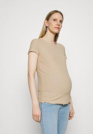 OLMEMMA - Basic T-shirt - humus/melange