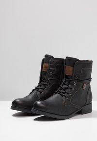 TOM TAILOR DENIM - Botines con cordones - black - 4