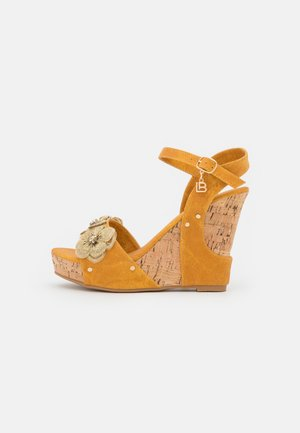 Platform sandals - splash ocra