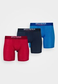 Hollister Co. - SOLID CHAIN 3 PACK - Boxerky - red - 4