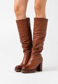 MJUS - High heeled boots - mustard - 0