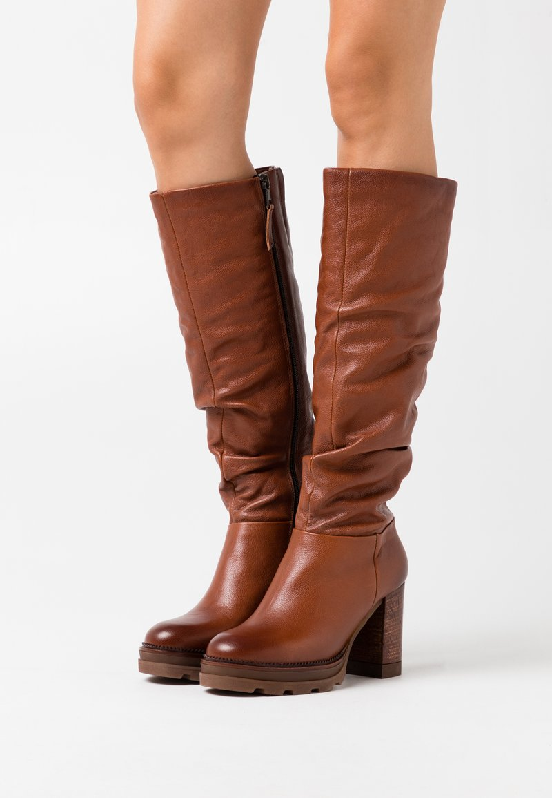 MJUS - High heeled boots - mustard