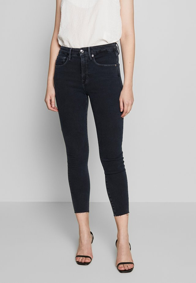 LEGS CROP RAW EDGE - Jeans Skinny - blue