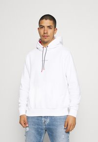 Calvin Klein - SUMMER GRAPHIC BACK PRINT HOODIE - Felpa - bright white - 0
