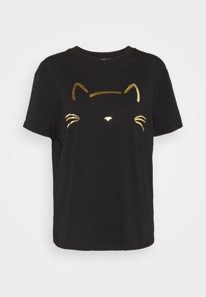 CAT PRINTED TEE - T-Shirt print - black