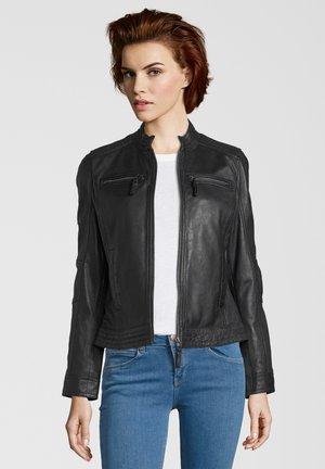SALVINA - Leather jacket - black